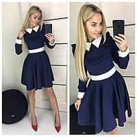 """женское платье с воротничком (жіноче плаття ) """"Школьница"""" 4 цвета, фото 1"""