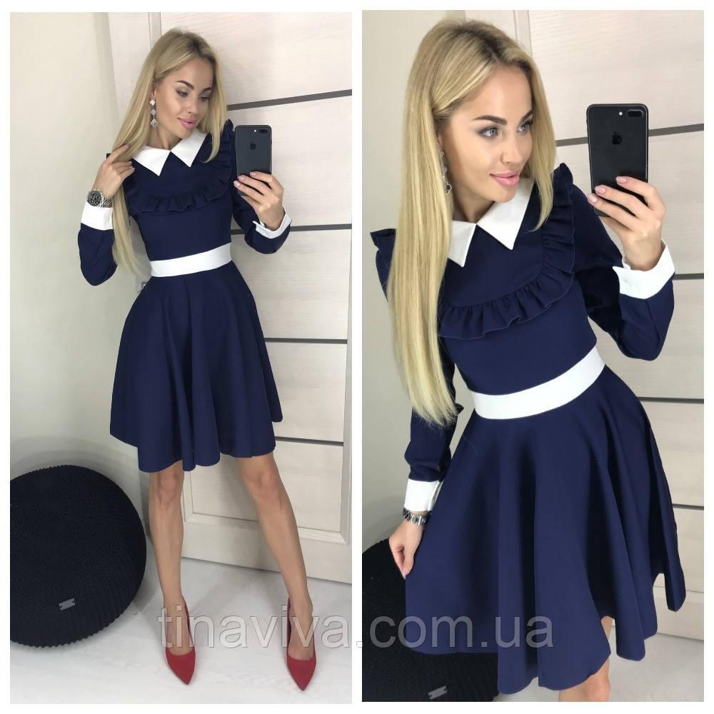 """женское платье с воротничком (жіноче плаття ) """"Школьница"""" 4 цвета"""