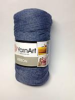 Турецкая пряжа для вязания YarnArt   Ribbon ( риббон )  ковриков , корзин   - 761 джинс