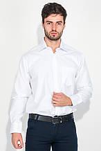 Рубашка мужская в светлом оттенке, тонкая полоска 50PD875-18 (Белый)