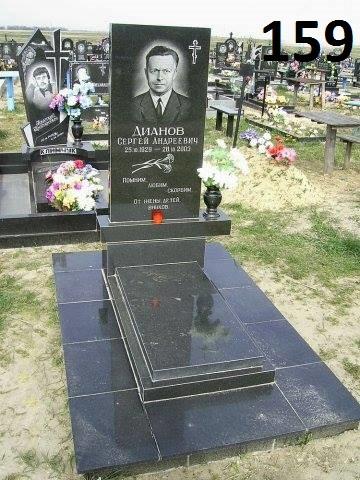 Ексклюзивний пам'ятник на могилу із чорного граніту
