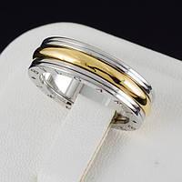 """Изумительное кольцо """"BVLGARI"""" покрытое золотом 0644 19"""