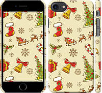 """Чехол на iPhone 8 Новогодняя текстура v2 """"1483c-1031-20760"""""""