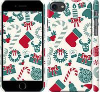 "Чехол на iPhone 8 Новогодний фон ""4199c-1031-20760"""