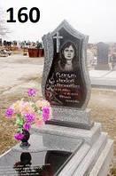 Ексклюзивний пам'ятник на могилу хрест з покостівського граніту
