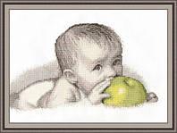 Набор для вышивания крестиком Младенец. Размер: 25,7*16 см