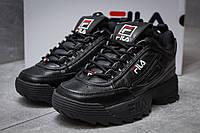 Кроссовки женские 14411, Fila Disruptor II Black, черные ( 36 37  )