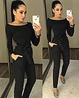 Классические  женские брюки черного цвета с завышенной талией