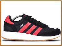 Мужские кроссовки Adidas Iniki Runner Boost Black Red White (адидас иники, черные / красные / белые)