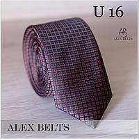 """Краватка дорослий вузький з малюнком """"Lan Franko"""" GVUR-U16"""