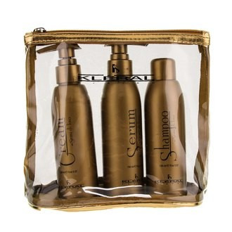 Набор в косметичке Kleral System Semi Di Lino (sham/150ml + cr/150ml + serum/150ml + bag)