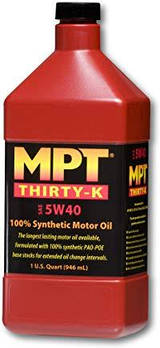 MPT ® 5W-40 Thirty-K 100% Full Synthetic Motor Oil