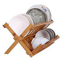 СкладнаябамбуковаясушилкадлясушкиПластина Кухонная посудомоечная машина для хранения кухонных принадлежностей Органайзер Держат - 1TopShop, фото 2