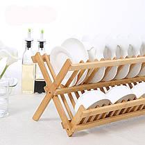 СкладнаябамбуковаясушилкадлясушкиПластина Кухонная посудомоечная машина для хранения кухонных принадлежностей Органайзер Держат - 1TopShop, фото 3