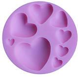 """Молд кондитерский """"Сердечка"""" - диаметр молда 7,5см, силикон, фото 4"""