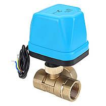 TMOK1/2 3/4 1 BlueShell 3-ходовой моторизованный электрический латунный шаровой клапан 3 Провод Полный порт переменного тока 220 В - 1TopShop, фото 3