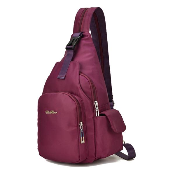 ЖенскоеNylonМногофункциональныйВодонепроницаемыCrossbodyСумка Рюкзак для отдыха Travel Chest Сумка Baby Сумка - 1TopShop