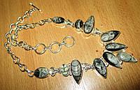 """Шикарное серебряное колье с ортоцерасом   """"Звуки моря"""" ,  от студии LadyStyle.Biz, фото 1"""