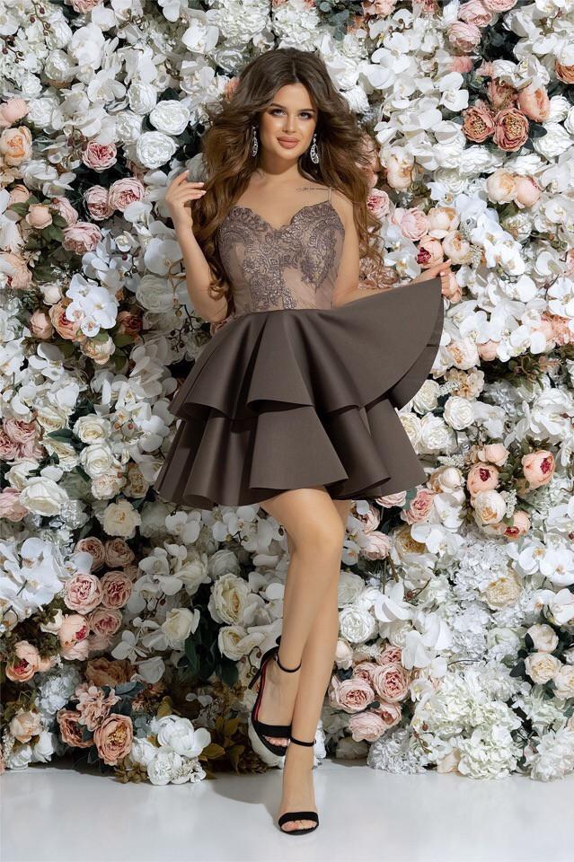 b6e1cb7097f Шикарное Коктейльное Платье 42 44 46 Белое Пудра Голубое Розовое — в ...