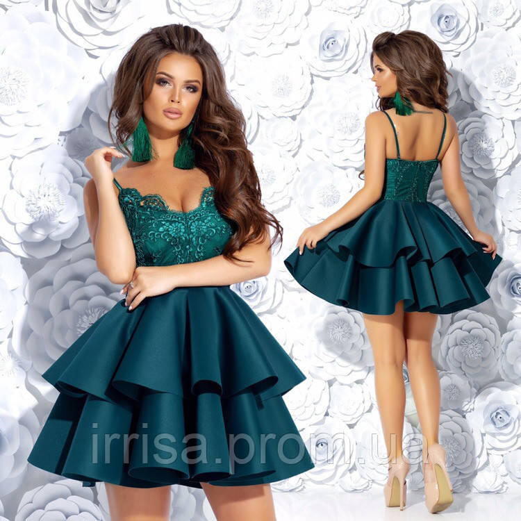 a5880cc33ac Шикарное коктейльное платье 42 44 46 персиковое голубое синее черное  бутылка серый бежевый розовый - Irrisа