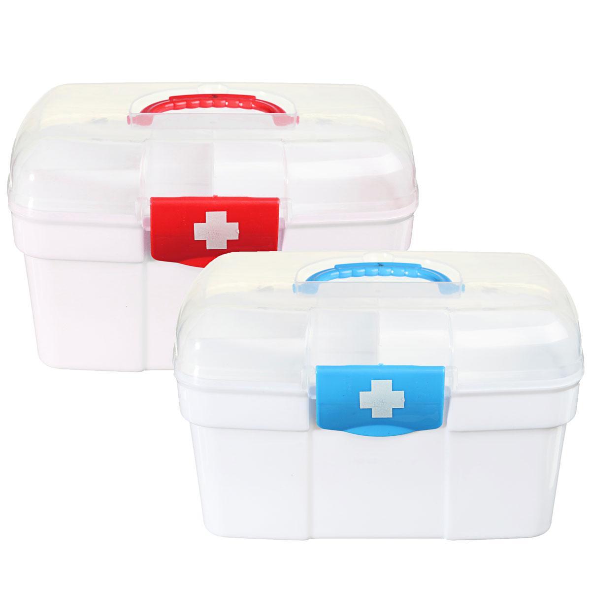 2 слоя ящик для хранения пластиковых аптечке препарат первой помощи держатель комплект - 1TopShop
