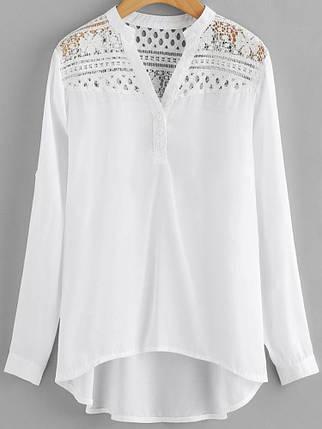 Женское Повседневная лоскутная шипованная шифонная блузка - 1TopShop, фото 2