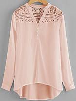 Женское Повседневная лоскутная шипованная шифонная блузка - 1TopShop, фото 3
