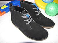 Ботинки подростковые осенние Lands'End оригинал размер 34 черные 08031/02