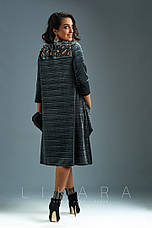 Женское батальное платье из бархата , фото 3