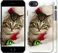 """Чехол на iPhone 8 Новогодний котёнок в шапке """"494c-1031-20760"""""""