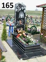 Есклюзивний пам'ятник на могилу з чорного граніту
