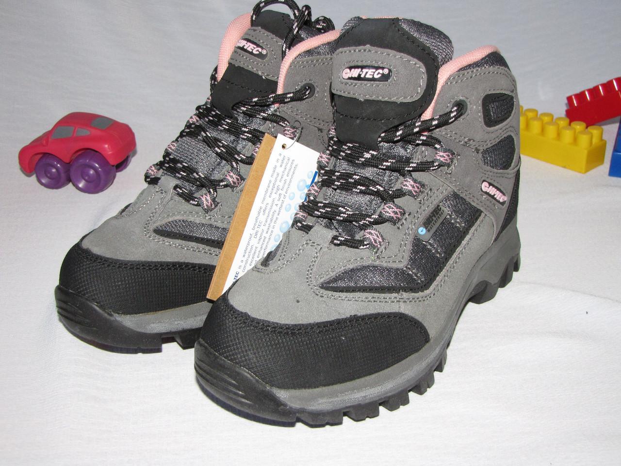 Ботинки для девочки осень зима  Hi-Tech оригинал размер 33 серые+розовые 08020/02