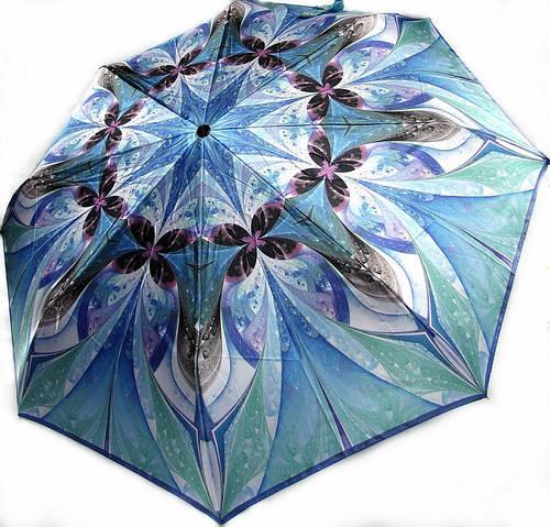 Женский голубой зонт, полный автомат DOPPLER 74665GFGM-1 Антиветер