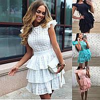 """женское летнее платье с пишной юбкой (жіноча сукня ) """"Барби"""" 4 цвета, фото 1"""