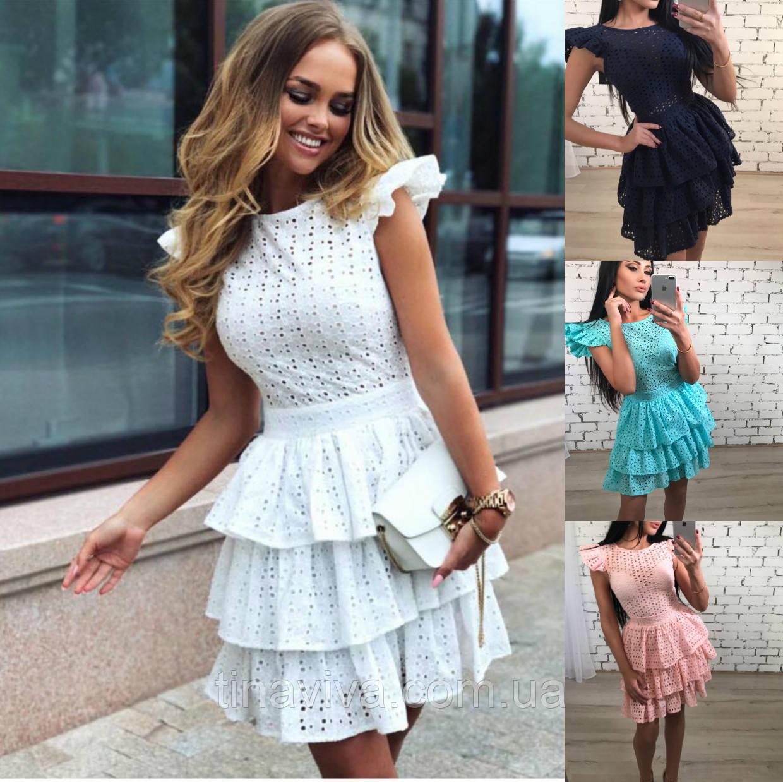"""женское летнее платье с пишной юбкой (жіноча сукня ) """"Барби"""" 4 цвета"""