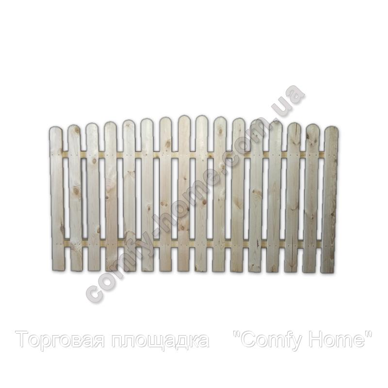 Забор Фигурный деревянный, фото 2