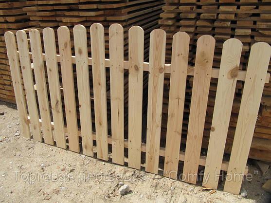 Забор Фигурный деревянный, фото 3