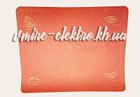 Силиконовый коврик с разметкой для выпечки и раскатки теста 40*50 см