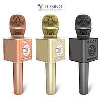 ОРИГИНАЛ! Микрофон караоке с колонками TOSING Q12 /TUXUN Беспроводной Блютуз. Лучший детский подарок, фото 1
