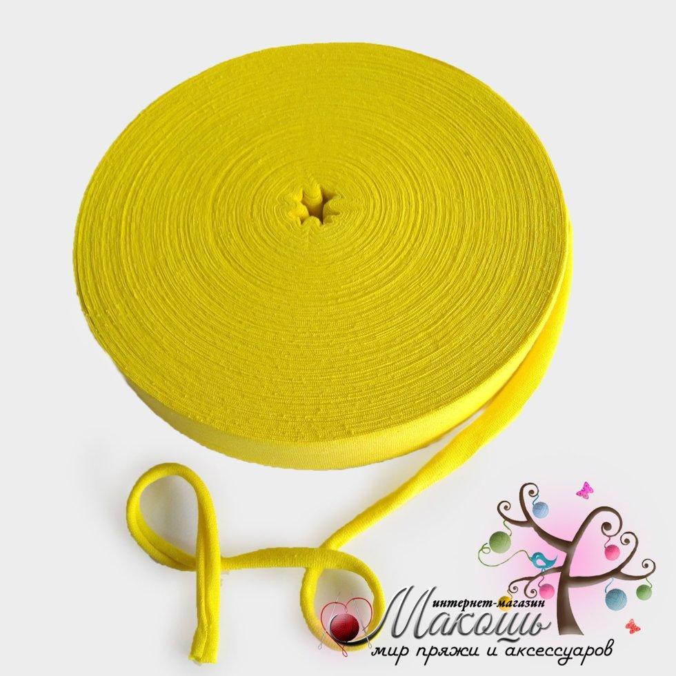 Трикотажная пряжа в ролике Барва, стандарт 7-9 мм, лимон