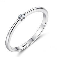 """Кольцо из серебра 925 пробы с цирконием (фианитом) """"Stella"""", диаметр 17,3 mm."""
