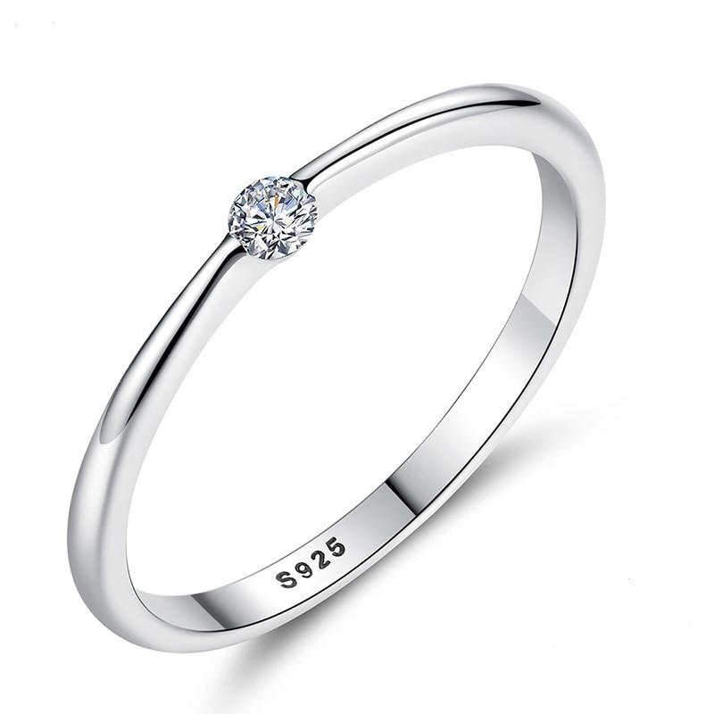 """Кольцо из серебра 925 пробы с цирконием (фианитом) """"Stella"""", диаметр 17,3 mm., фото 1"""