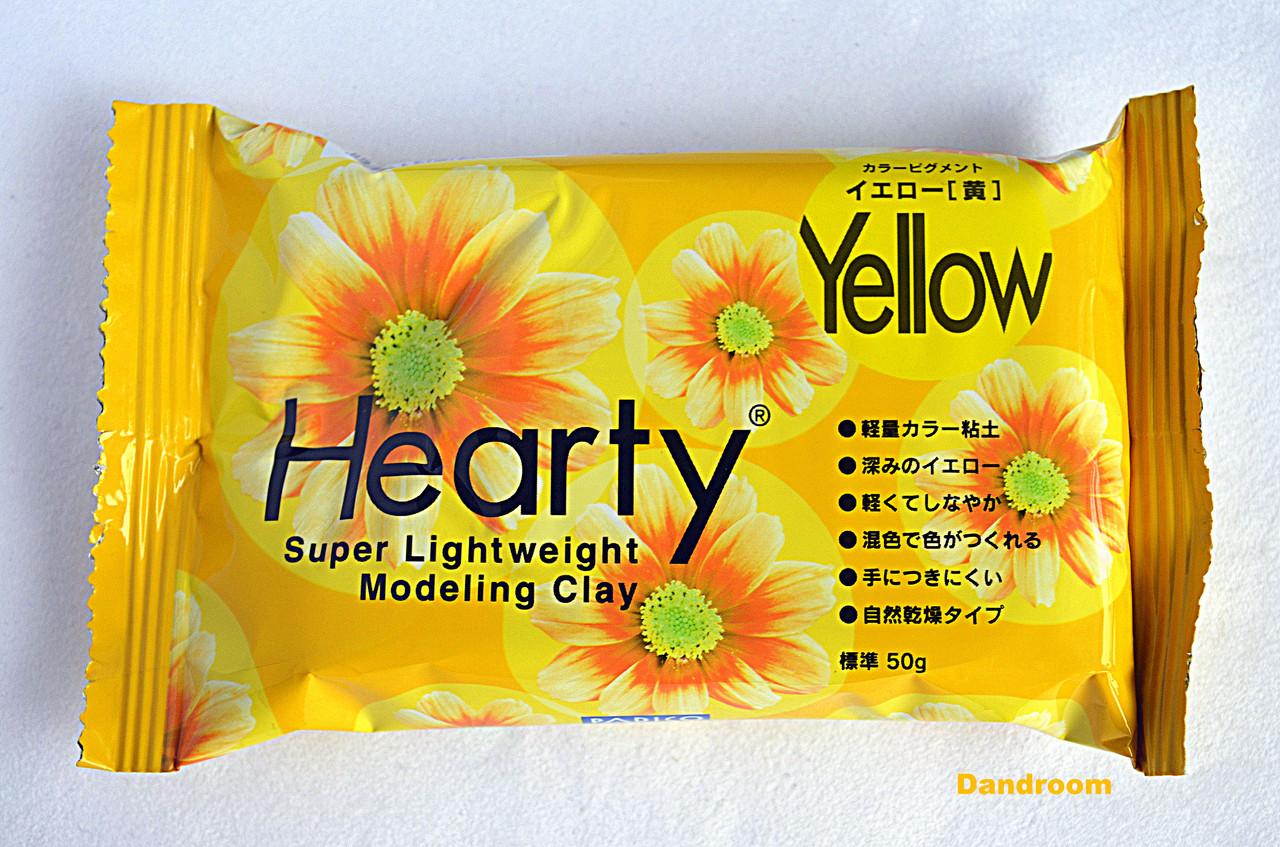 Пластика самозатвердевающая, Hearty, Желтая, 50 г, Padico
