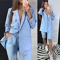 204d23f93ec Костюм женский стильный классика удлиненный пиджак и шорты Dld1395
