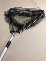 Складной подсак Briz трехугольный с телескопической ручкой и мелкой сеткой