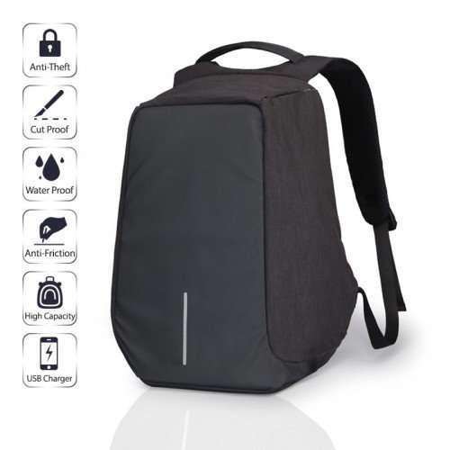 Рюкзак Антивор XD Design Bobby anti-threft для ноутбука с USB для зарядки  Чёрный Копия