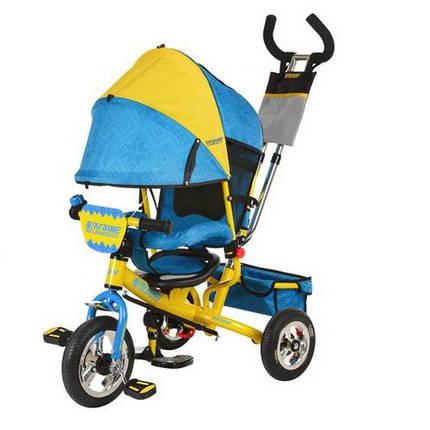 Детский трехколесный велосипед Turbo Trike М 5361-01UKR надувные колеса, фото 2