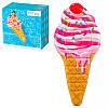 """Надувной матрас-плот для плавания """"Мороженое рожок"""" Intex 58762, 224*107 см"""