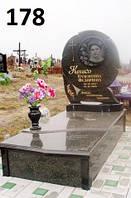 Елітний пам'ятник комплект з закритим квітником з граніту