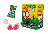 Жевательные конфеты (жвачки) без глютена Fini Basket balls футбольный мяч со вкусом колы и лимон Испания 5г